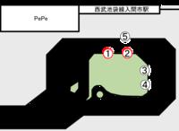 入間市駅バス停1・2