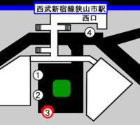 狭山市駅バスロータリー